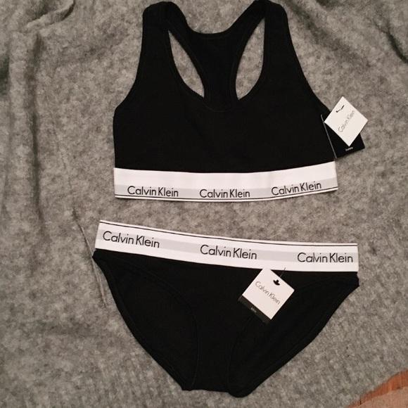 a398848787 Calvin Klein Matching Bra   Panty Underwear Set
